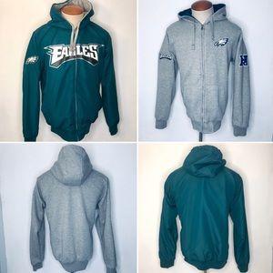 Philadelphia Eagles NFL Jacket Hooded Reversible M